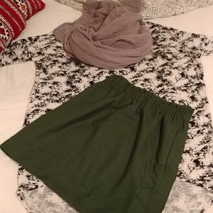 Beautiful fresh green j.crew skirt